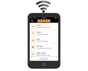 Joindre application mobile Kayak