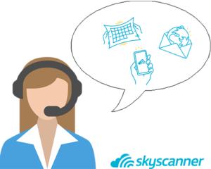 appeler service client skyscanner