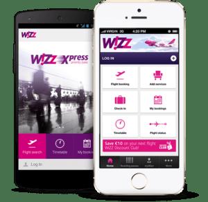 Wizzair application mobile
