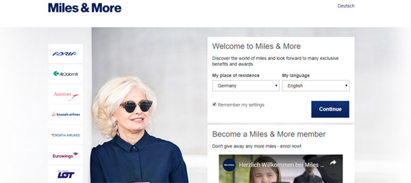 miles and more mon programme en ligne