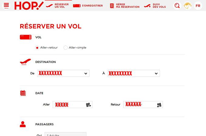 reservation hop en ligne