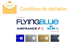 conditions de résiliation flying blue