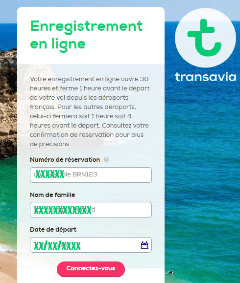 checkin en ligne transavia