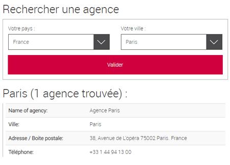 Comment trouver une agence à proximité