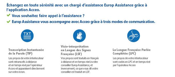 contacter europ assistance par telephone pour les personnes sourdes ou malentendantes