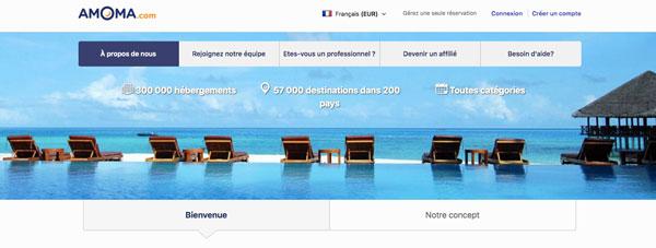 Accès au site amoma.com