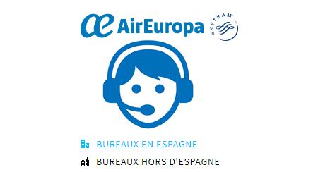 Appler un conseiller client Air Europa par téléphone
