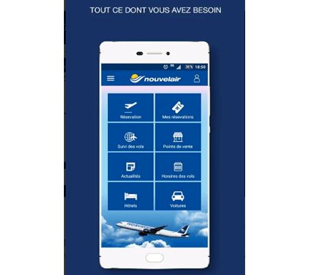 application mobile Nouvelair
