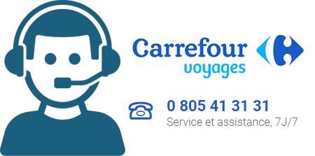 Numéro de téléphone de Carrefour Voyages