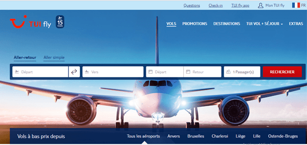 Jetairfly / Tui Fly Belguim contact en ligne