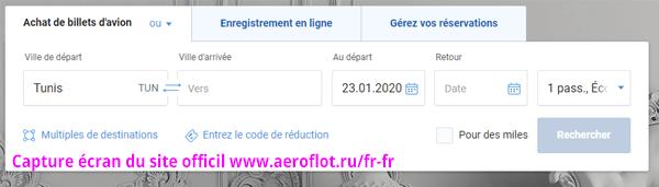 Aeroflot contact, enregistrement et réservation en ligne