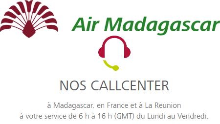 Contacter Air Madagascar par téléphone