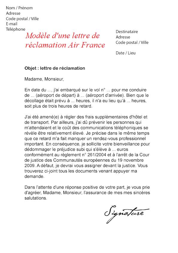 réclamation Air France en cas d'un vol retardé