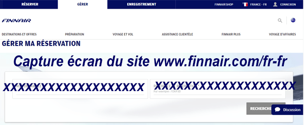 Mes réservations Finnair
