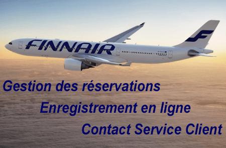 Finnair: mes réservations, enregistrement en ligne et contact