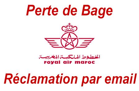 Réclamation pour Bagage perdu Royal Air Maroc