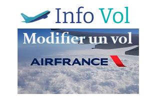 Modifier un vol Air France