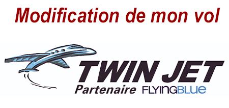 Comment procéder pour modifier ma réservation de vol Twin jet ?
