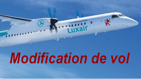 XComment effectuer la modification de mon vol Luxair ?