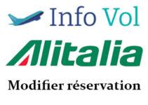 Modification réservation Alitalia