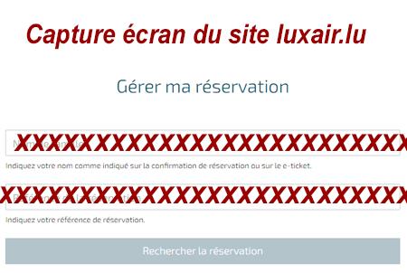 Modifier ma réservation Luxair en ligne.