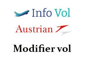 Modifier mon vol Austrian Airlines