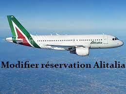 Modifier une réservation Alitalia