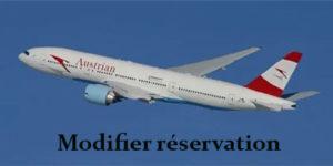 Modifier une réservation Austrian Airline