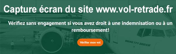 Déposer une demande de remboursement ou d'indemnisation sur le site internet www.vol-retarde.fr